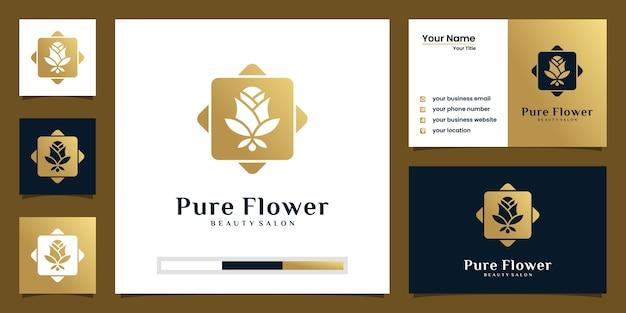 Minimalistische elegante blume rose luxus schönheitssalon, mode, hautpflege, kosmetik, yoga und spa-produkte.