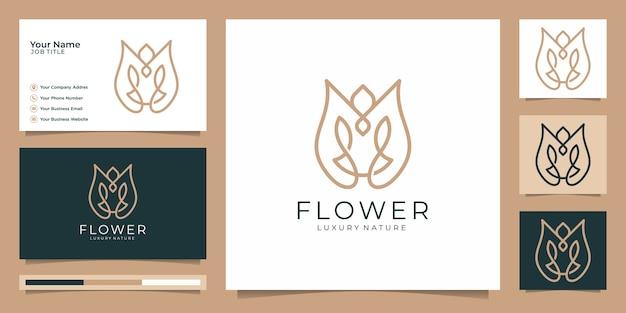 Minimalistische elegante blume rose luxus schönheitssalon, mode, hautpflege