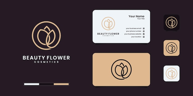 Minimalistische elegante blumenrosenschönheit, kosmetik, yoga und spa-inspiration. logo, symbol und visitenkarte