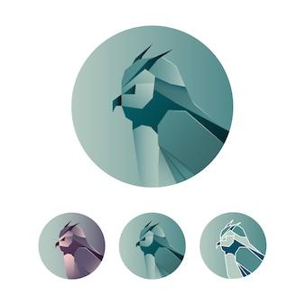 Minimalistische eule abstrakte logo-symbol