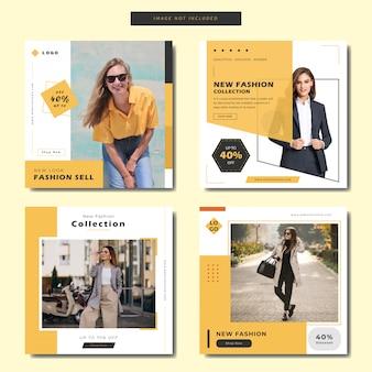Minimalistische fashion square banner oder instagram beitragsvorlage