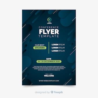 Minimalistische flache konferenz flyer vorlage