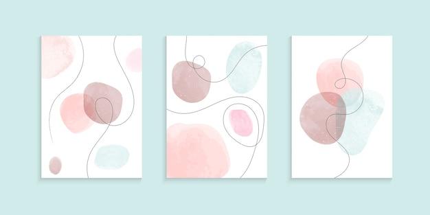 Minimalistische hand des aquarellhintergrundes gezeichnet