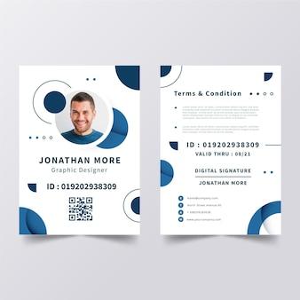 Minimalistische id-karten-vorlage