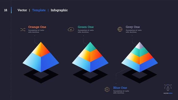 Minimalistische infografik-präsentationsfolie. modernes design der broschürenabdeckung.