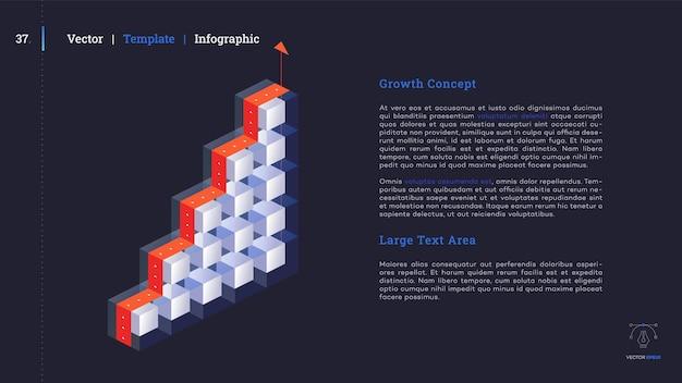 Minimalistische infografik-präsentationsfolie. modernes design.