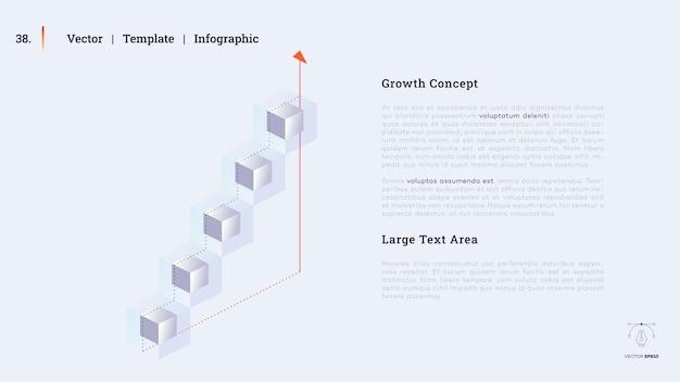 Minimalistische infografik-präsentationsfolie