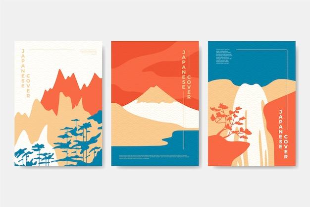 Minimalistische japanische cover-sammlung