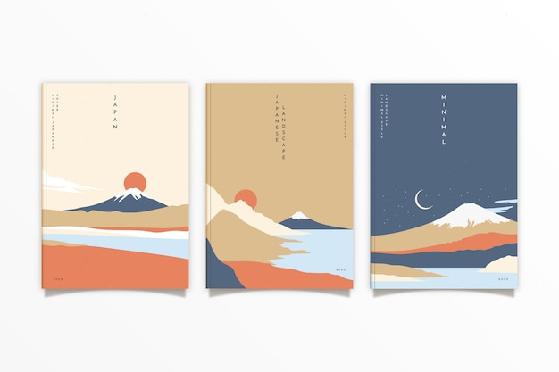 Minimalistische japanische titelsammlung