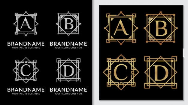 Minimalistische klassische ornament logo vektor vorlage
