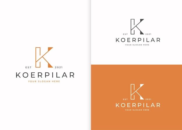 Minimalistische logo-design-vorlage für den buchstaben k