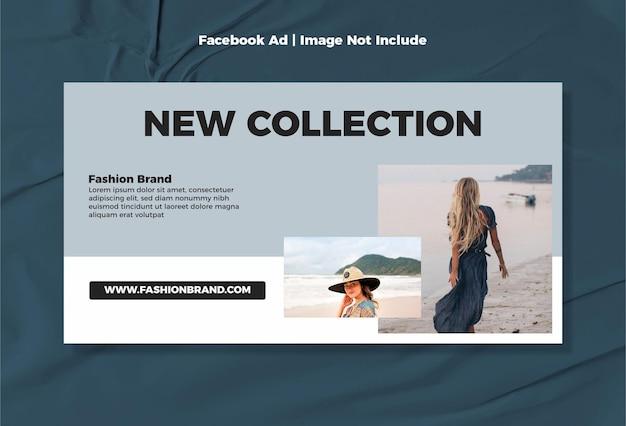 Minimalistische moderne facebook ad fashion release