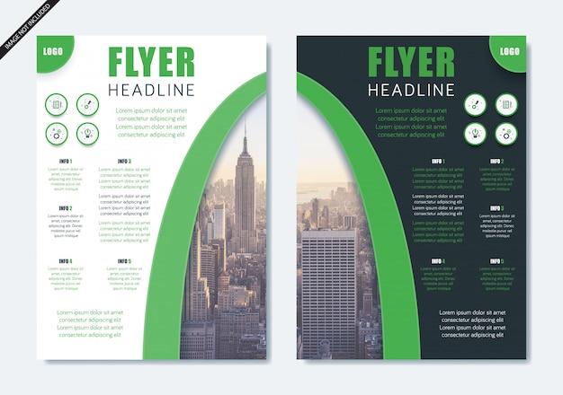 Minimalistische moderne flyer broschüre layout