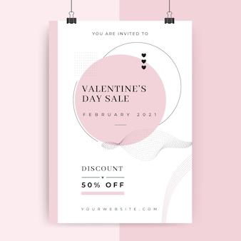 Minimalistische plakatvorlage zum valentinstag