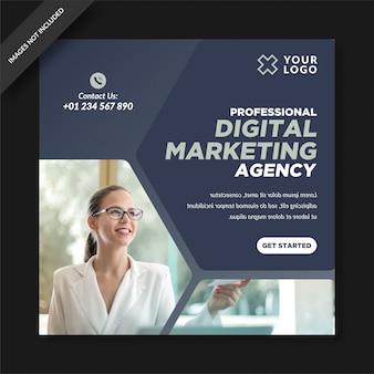 Minimalistische social marketing agentur social media post