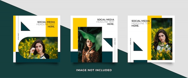 Minimalistische social-media-beitragsvorlage