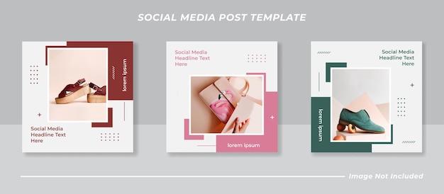 Minimalistische social-media-post-template-sammlung