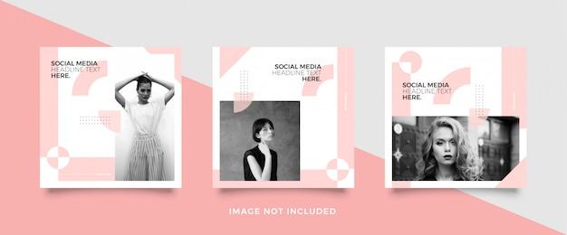 Minimalistische social media post vorlage