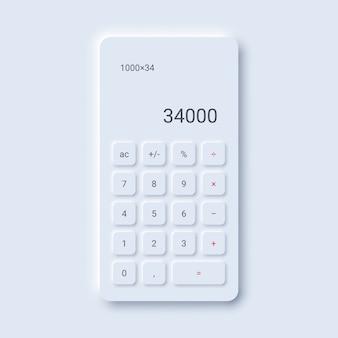 Minimalistische taschenrechnerschnittstelle