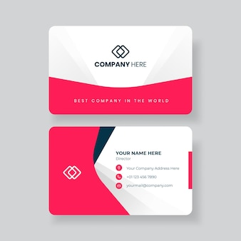 Minimalistische visitenkarten-designvorlage