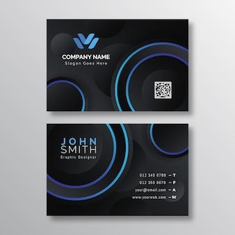 Minimalistische visitenkartenvorlage für neumorph