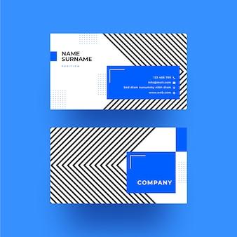 Minimalistische visitenkartenvorlage