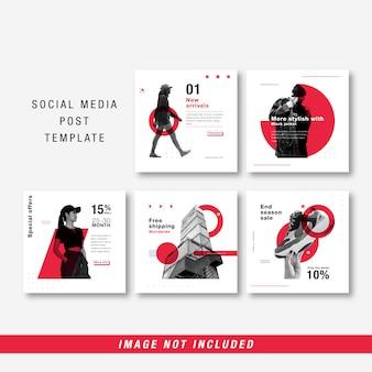 Minimalistische vorlage für soziale medien