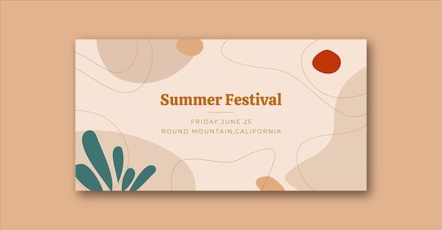 Minimalistische wellen natur social media event cover