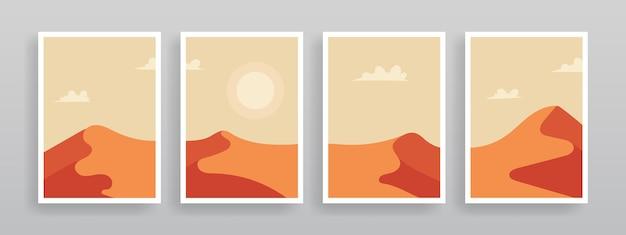 Minimalistische wüstenwandkunstschablone
