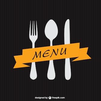 Minimalistischen menü-vorlage