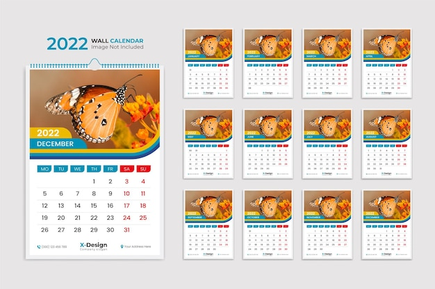 Minimalistischer 2022 datumsplaner kalendervorlage tischkalender