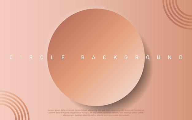 Minimalistischer abstrakter hintergrund der rosa prämie mit geometrischen elementen des luxuskreises.