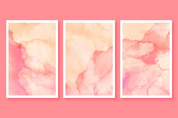 Minimalistischer aquarellkartensatz