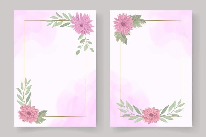minimalistischer blumenrahmen für einladungs- oder grußkartendesign