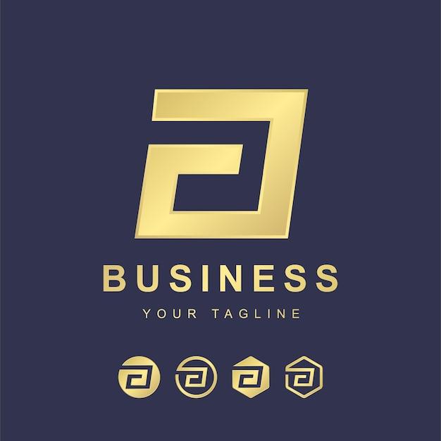 Minimalistischer buchstabe ein logo-schablonendesign. modernes logo-konzept mit goldenem verlaufseffekt Premium Vektoren