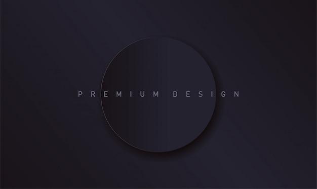 Minimalistischer dunkler premiumhintergrund mit papierkreis für umschlag oder plakat