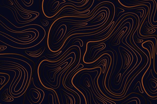 Minimalistischer dunkler topografischer kartenhintergrund