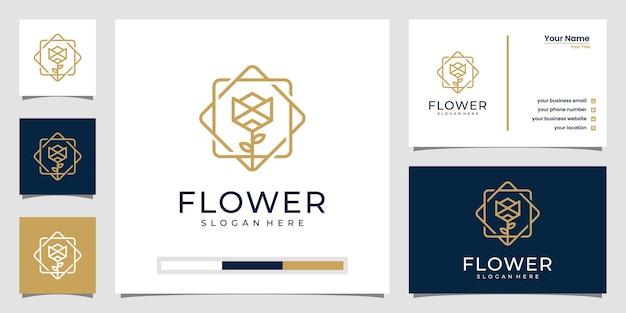 Minimalistischer eleganter blumen-luxus-schönheitssalon für blumen, mode, hautpflege, kosmetik, yoga und spa-produkte.