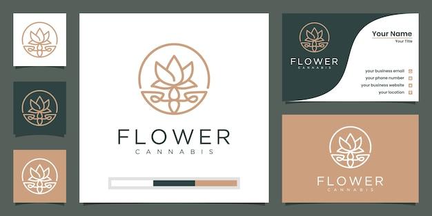 Minimalistischer eleganter blumenschönheitssalon, mode, hautpflege, kosmetik, yoga und spa.