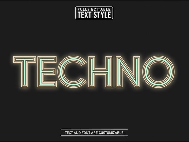 Minimalistischer farbtext-effekt der techno-linie