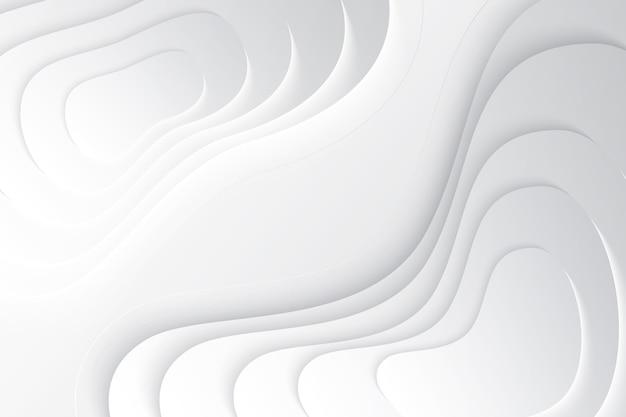 Minimalistischer gewellter 3d hintergrund
