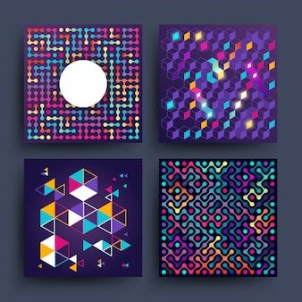 Minimalistischer grafischer vektor-design für covers