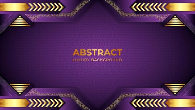 Minimalistischer lila farbverlaufshintergrund mit formen abstrakten luxushintergründen