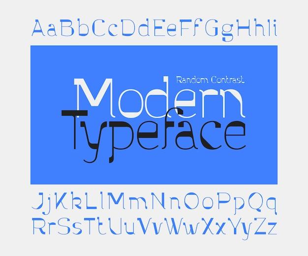 Minimalistischer moderner schriftsatz
