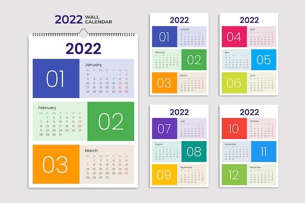 Minimalistischer monatlicher terminkalender für 2022