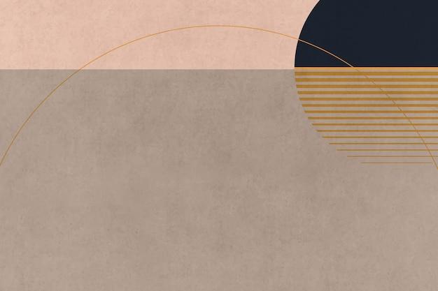 Minimalistischer retro-poster-stil der aufgehenden sonne landschaft