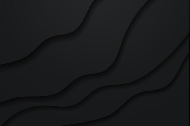 Minimalistischer schwarzer hintergrund im papierstil