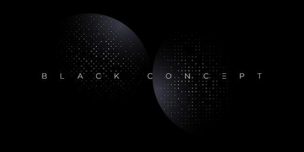 Minimalistischer schwarzer premium abstrakter hintergrund mit dunklen geometrischen luxuselementen. exklusive tapete für poster, broschüre, präsentation, website, banner etc. - Premium Vektoren