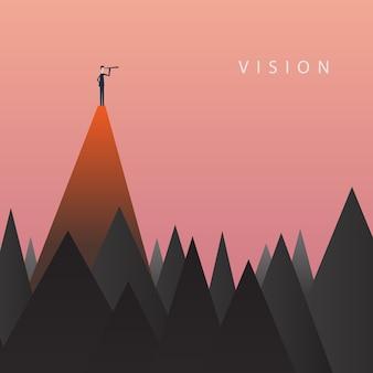 Minimalistischer stil. unternehmensfinanzierung. erfolgreiches vision konzept