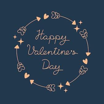 Minimalistischer valentinstag im flachen stil